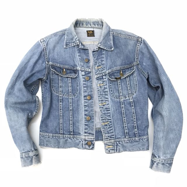 79e925eb Vintage 60s 70s Denim Jacket Lee 101 - J Jeans Size 38 Made in USA ...