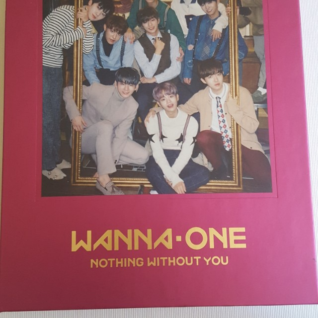 WANNA ONE nithing without you pink vers