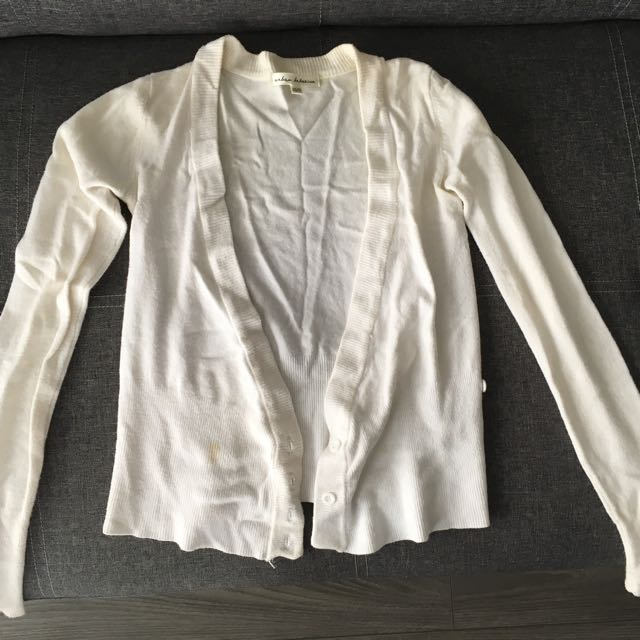 White button Up Cardigan