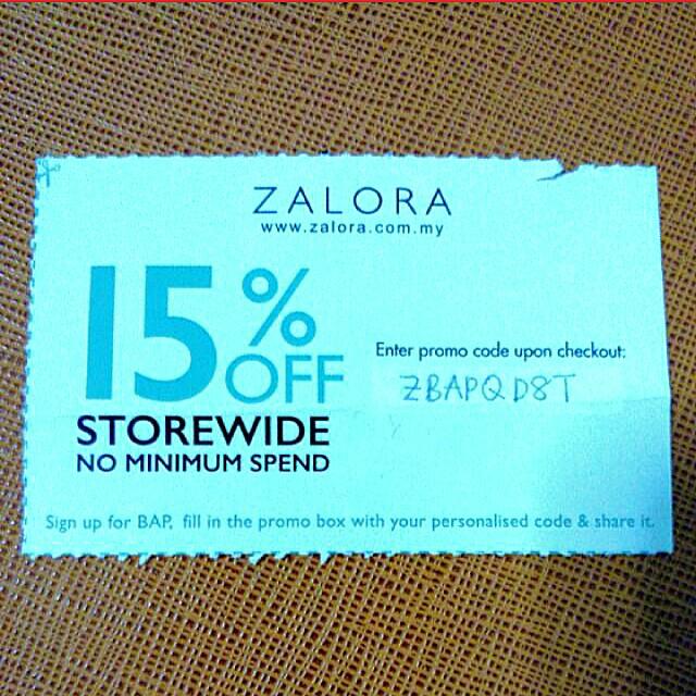 ZALORA 15% OFF STOREWIDE