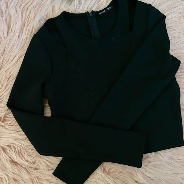 Zara long sleeve cropped top