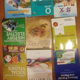 O level Textbooks, revision guides and practice books