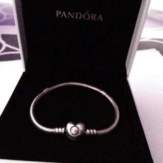PRELIVED PANDORA bracelet and charm