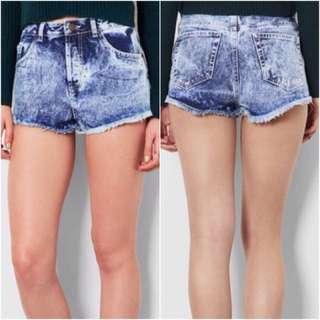 Topshop light wash denim hot shorts