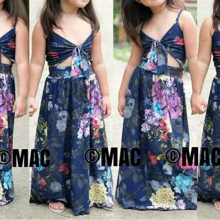 Tie top maxi dress