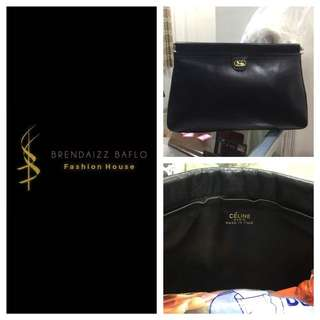 Celine All Leather Clutch