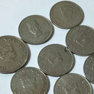 Brunei old coin 19pc (all $5 )