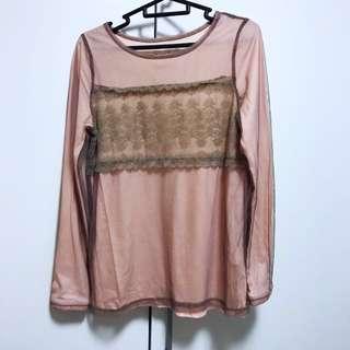 #huat50sale Pink Gauze Sweater