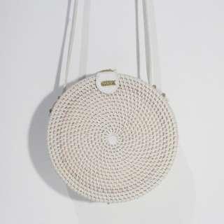 Rattan bag white