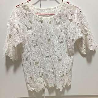 White Lace Top #huat50sale