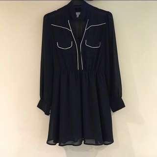 Cotton On Chiffon Long Sleeve Dress