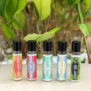 Essential Oils TRAVVEL set roller blends (usinh Young Living)