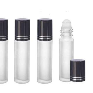 Clear Roller glass bottle 10ml - frosted