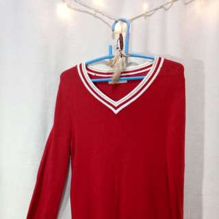 Giordano Red Knitted Pullover