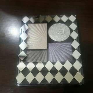 🚚 ZA耶誕限定金屬光寶石四色眼影盒#純銀(無外盒)