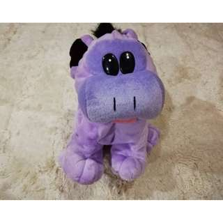 Cute Purple Puppy Plush Bag Toys For Kids