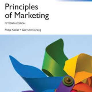 Principles Of Marketing Textbook 15th Edition