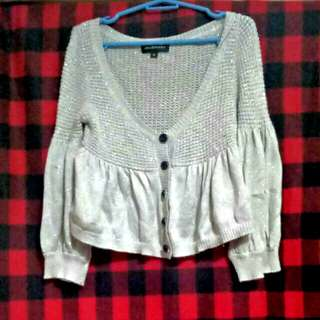 Knitted Gray Cardigan