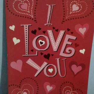 I Love You Big Valentine's card