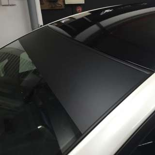 Plain matte black sunshade sticker