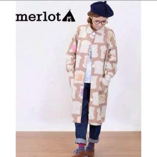 Merlot 吐司果醬麵包長大衣 焦糖色