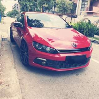 Volkswagen scirocco 1.4tsi stage 3 for rent/lease
