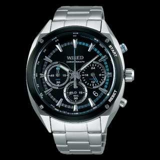 WIRED AGAW443 日水全新男裝石英手錶