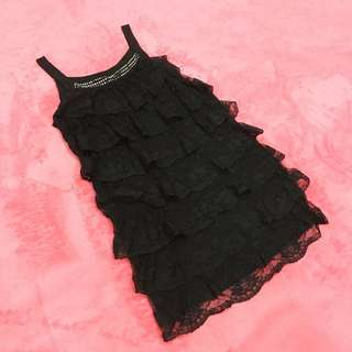 Free Shipping !! Black Lace Layer Cake Tops