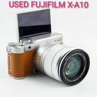 USED FUJIFILM X-A10 MIRRORLESS CAMERA + 16-50MM OIS LENS