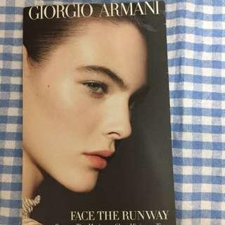 Giorgio Armani face the runway Armani Glow sample set