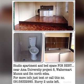 studio Apartment at Proj 8 Quezon City