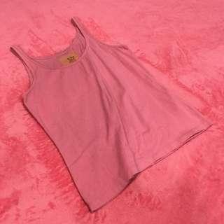 Free Shipping !! Pink Cotton Loose Tank Tops
