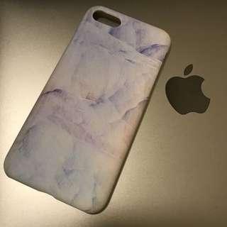 iphone 7 8 蘋果 手機殼 電話套 雲石 暈染 硬殼 不包邊