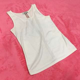 Free Shipping !! Cache Cache White Lace Cutout Back Tank Tops