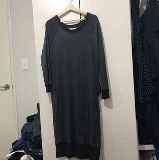 Super long jumper dress