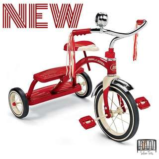 🆕 THE RADIO FLYER DUAL DECK TRICYCLE - CLASSIC RED
