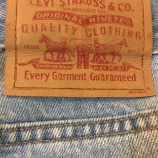 High Waisted Vintage Levis Denim Jeans