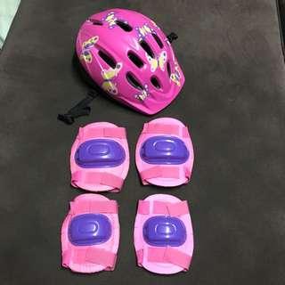 Girl's Helmet, Knee & Elbow guard set