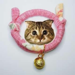 Oui.abi Japanese kimono cat dog rabbit Mini collar -  Pastel pink