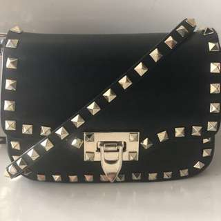 Valentino leather rock stud mini crossbody bag