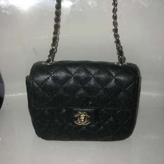Chanel small caviar leather purse