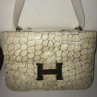Hermes crocodile leather purse
