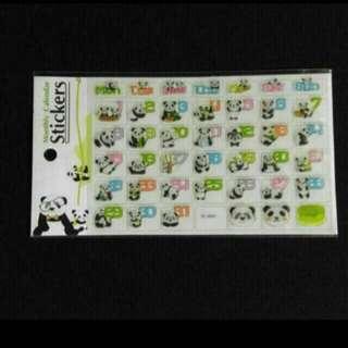 可愛熊貓凸面貼紙🐼✨全新📮包郵