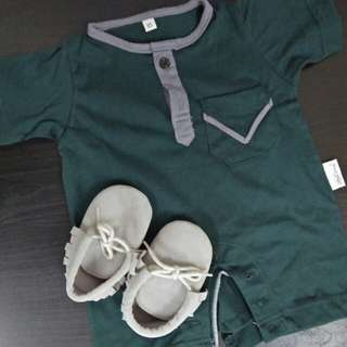 Romper Baju Melayu + Kasut