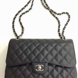 Chanel Black Caviar Jumbo Classic