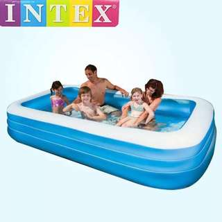 Intex Rectangle Air Inflatable Swimming Pool