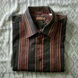 Ben Sherman Striped Stretch and Slim Fit Shirt