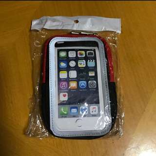 Sport-Fit iPhone7運動臂帶(紅+黑)✨全新✨