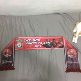 Liverpool team scarf (the kop comes to Asia singapore)