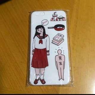 Iphone6plus女生圖案電話套👧🏻📱✨全新📮包郵